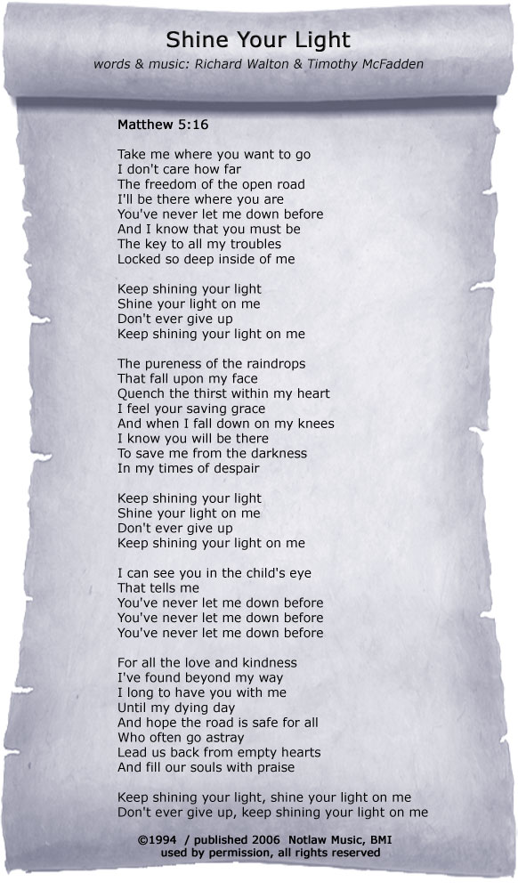 Shine Your Light Lyrics